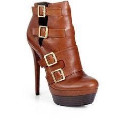 Rachel Zoe Danielle Multi-Buckle Double Platform Ankle Boots - Polyvore