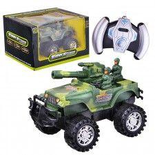 """Машина 88-80С """"Джип"""" Военный  р/у, на батарейках, в коробке"""