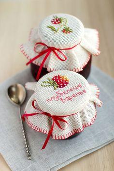 Шляпки для банок: украшаем баночку с вареньем - Ярмарка Мастеров - ручная работа, handmade