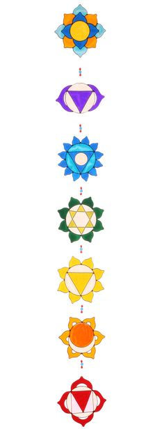 Yoga decoration Set of 7 Chakras Suncatcher Sacred by Mownart
