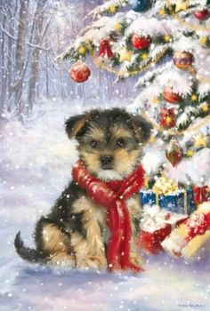 Diamond Painting Christmas Scarf Dog Paint with Diamonds Art Crystal Craft Decor