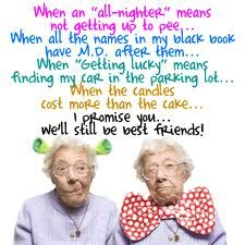 This is us when we get older. ... YOU'RE the one with the bow tie! bahahah!!!