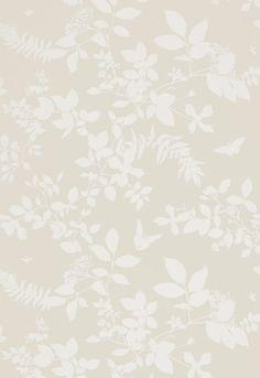 Wallcovering / Wallpaper | Shadow Vine in Bone | Schumacher