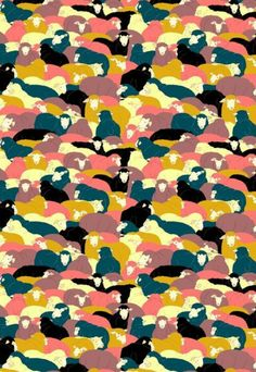 Sheep herd: a cool print with meaning prints and patterns pi Textiles, Textile Prints, Textile Patterns, Textile Design, Cool Patterns, Beautiful Patterns, Print Patterns, Conversational Prints, Sheep Art