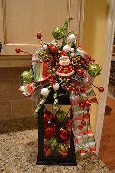 Whimsical Santa Lantern Swag by kristenscreations on Etsy, $38.00