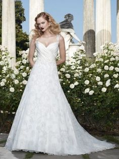 Casablanca Bridal 2067 A-Line Lace Wedding Dress