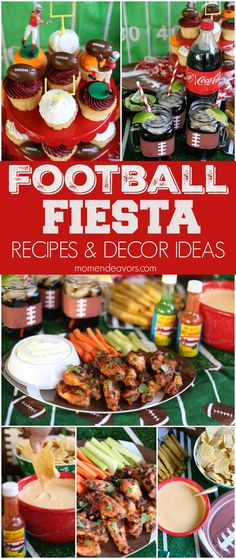 Football Fiesta - Game Day Party Ideas!! The tasty recipes definitely #ScoreonFlavor!! AD