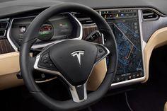Tesla Car, Map and Infotaiment