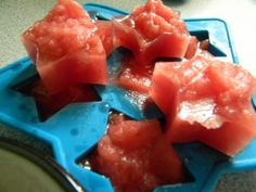 For Dogs Only:  Cool off this summer with frozen watermelon stars. Full of Vitamin A, Vitamin C and Vitamin B6.  It also contains the highest concentrations of lycopene – more than any other fresh fruit or vegetable! And if that's not enough, it also hydrates and is low in fat.