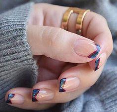 Super nails design black red french tips 36 Ideas French Nails, Nail Art Inspiration, Nail Art Vernis, Nagel Hacks, Super Nails, Nagel Gel, Blue Nails, Nail Tips, Manicure Ideas