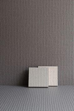 Porcelain stoneware wall tiles PICO ANTHRACITE RED DOTS by MUTINA design Ronan & Erwan Bouroullec