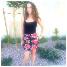 Pink flowers for the summer #skirt #forever21 #shirt #forever21 #cute  #love #summertime #vegas #nv #fashion #properpinkfashion #follow #followme