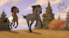 These horses look like they're from Spirit. Am I wrong? Spirit The Horse, Spirit And Rain, Spirit Film, Horse Drawings, Cute Animal Drawings, Ride Drawing, Arte Equina, Horse Animation, Horse Movies