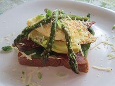 Open Face Fried Egg Sandwich