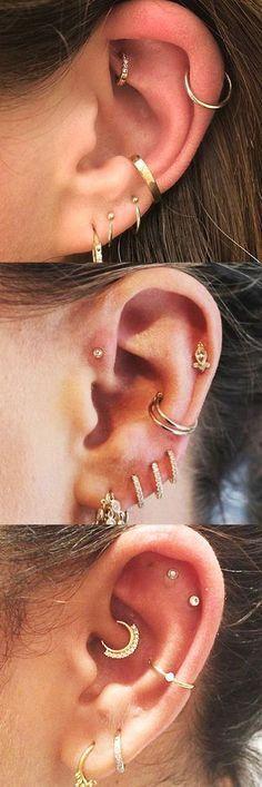 30 idées gratuites pour le perçage d'oreille # idées # gratuit # piercing d'oreille #d39oreille #gratuit #gratuites #Idées #Perçage #piercing #pour Piercing Implant, Ear Piercings Tragus, Cute Ear Piercings, Multiple Ear Piercings, Body Piercings, Cartilage Earrings, Stud Earrings, Tragus Stud, Peircings