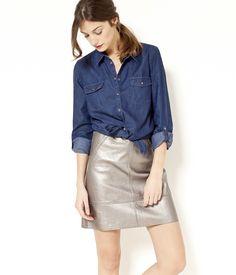Robe chemise jean camaieu