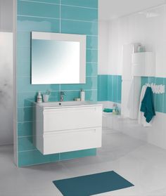 carrelage mural rigato bianco turquoise 25 x 40 cm castorama mur sdb pinterest peintures. Black Bedroom Furniture Sets. Home Design Ideas
