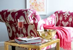 One Kings Lane - Sofas, Love Seats & More - Hutton Chaise, Raspberry