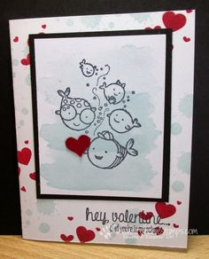 Stamp & Scrap with Frenchie: Stamp on the Go #22Hey, Valentine
