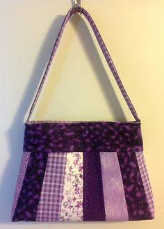 FREE SHIPPING Mixed print purple patchwork by PenguinPouches