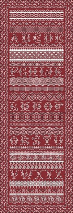Antique Lace Band Sampler Chart by by NorthernExpressions1 on Etsy, $20.00