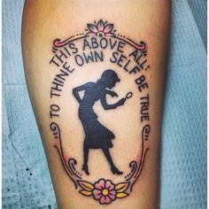 "Pin for Later: Read 'Em and Weep! 49 Tattoos Inspired by Famous Books Nancy Drew and Hamlet ""This above all: to thine own self be true. Tasteful Tattoos, Love Tattoos, Beautiful Tattoos, New Tattoos, Small Tattoos, Tatoos, Girl Tattoos, Book Tattoo, I Tattoo"