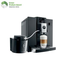 """The fully automatic coffee machine JURA F9 prepares 14 different specialities like espresso, latte macchiato or a fancy flat white at the push of a button and lets individual coffee dreams come true. The F9 convinces with extremely low power consumption and belongs to the category """"better than energy efficiency class A"""" according to the Swiss FEA classification. The clean and timeless design of the automatic coffee machine embodies its sustainability not only technologically but also…"""