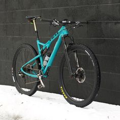 """The scientific community generally regards the Yeti as a legend but these tundra like conditions are irresistible to the beast known as """"wild man of the snow."""" This is a rare account of Scott's @yeticycles in its natural habitat. #yeticycles"""
