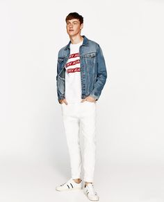 ZARA - MAN - CARROT FIT BULL DENIM JEANS