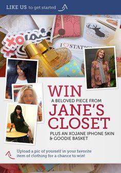 "Participate in our Facebook Contest! ""Raid Jane's Closet"" facebook.com/xojane  Nice customization, Annie Johnson"