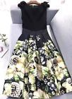 NEW Ted baker Felcity Gem Gardens Pleated DRESS SIZE 3/ UK12