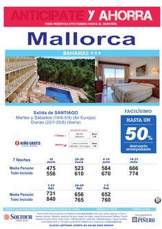 Mallorca -Anticipate y Ahorra- Hasta 50% Dto.Acompañante en Hotel Bahamas, salidas desde Santiago ultimo minuto - http://zocotours.com/mallorca-anticipate-y-ahorra-hasta-50-dto-acompanante-en-hotel-bahamas-salidas-desde-santiago-ultimo-minuto/