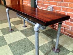 Reclaimed Burled Redwood, Galvanized Pipe, Reclaimed wood furniture