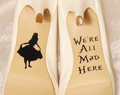 Alice im Wunderland Hochzeit Schuh von CraftyWitchesDecor auf Etsy