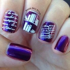 book nerd nail art