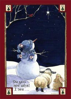 Do You See What I See Snowman Garden Flag Seasonal Christmas Winter x Christmas Canvas, Christmas Paintings, Christmas Snowman, Christmas Projects, Christmas Holidays, Christmas Decorations, Christmas Ornaments, Merry Christmas, Christmas Garden