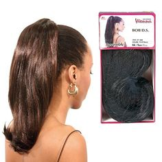 """14"""" Drawstring Synthetic Hair by Vienna. $12.99. Quick and easy to put on and take off. Adds style and length to own hair. Realistic looking. Vienna 14 Inch Drawstring Synthetic Hair is ready-to-wear, long drawstring hair. Transforms your style in minutes!"""