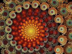 Spiral happy closeup II, by cyberchaos Fractal Design, Fractal Images, Fractal Art, Fibonacci Spiral, Wow Art, Dot Painting, Sacred Geometry, Fractal Geometry, Optical Illusions