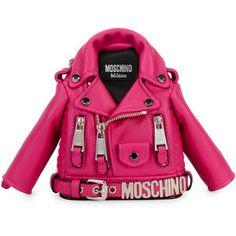 Moschino Biker Jacket Leather Shoulder Bag | Fall 2016