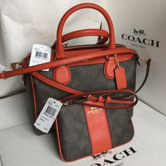 Coach Purse & Wristlet Authentic Coach Purse and Wristlet, new with tag come with Coach box and Coach paper bag❤️❤️❤️ Coach Bags Crossbody Bags