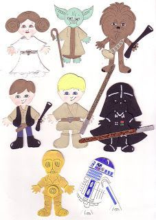 Got Scraps?: Star Wars Characters using Cricut cartridge. This person is creative.