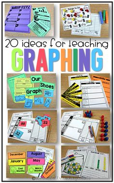 20 ways to teach graphing, lesson ideas for graphing, graphing for first grade, second grade, third grade, and kindergarten