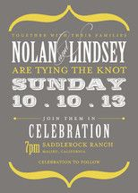 Fantastic wedding invitation