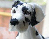 Needle Felted Great Dane Dog custom order pet by AliceFelts