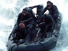 Navy Seal Team boating