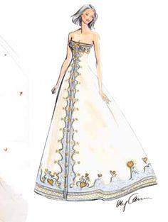 Wedding Gown by Oleg Cassini. A regal A-line design.