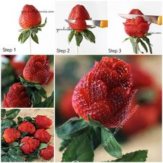 Come trasformare una fragola in una rosa