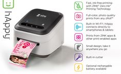 Check out our ZINK hAppy Smart App Printer – A whole new world of hAppy!