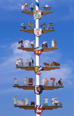 The first of May in Cham, Bavaria, Germany they love making Maypoles.  Each maypole is decoraged with ribbons, wreaths, or signs.