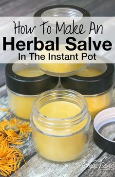 How To Make An Herbal Salve In The Instant Pot | The Instant Pot is the perfect tool for making a handmade salve. The process is even mostly hands-free with just 2 simple steps. First, you make an herb-infused oil. Second, you make an herbal salve.